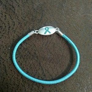Accessories - Teal ribbon bracelet